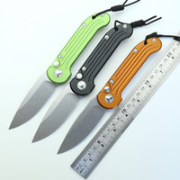 Outdoor fast knife automatic single action D2 stone wash bla...
