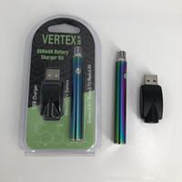 E cig batería de voltaje variable 510 hilo CE3 Tanque de aceite VV Precalentamiento Batería Rainbow Color Vape Pen Fit 510 Thread Atomizers