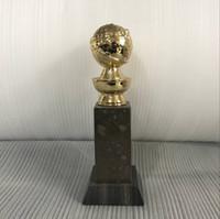 Spedizione gratuita DHL per il trofeo Golden Globe in oro placcato oro reale 24K Premi in trofeo Sport Golden Souvenir di qualità migliore