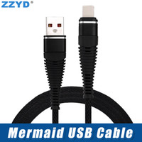 ZZYD 10FT 6FT 3FT Mermaid Usb Cable Braided Nylon TypeC Micr...