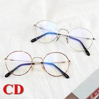 0394af0383 885103 Vintage Round Glasses Popular Women Brand Designer Eyewear Luxury  Alloy Full Frames Optical Lenses Fashion Style For Ornament Myopia