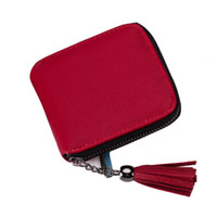 Aelicy high quality tassel coin purses women wallets mini sm...