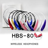 HBS800 Kablosuz Kulaklıklar 3.0 Spor Stereo Kablosuz Boyun Bandı Kulaklık Perakende Kutusu Ile Evrensel Telefon Için Mic Kontrol Bas ile