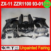 8Gifts Unpainted Voll Fairing Kit für Kawasaki ZX11 ZZR1100 93-01 ZX11 ZZR1100 93 94 95 96 97 98 99 00 01 Fairings Karosserie Bodykit