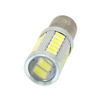 2 unids P21 / 5W LED luz del coche BAY15D bombilla led 1157 señal de cola freno de parada inversa DRL luz 5W 12V 3014 33 led smd amarillo rojo