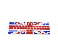 La cubierta inglesa británica del protector de silicona de la piel de la bandera británica cubre la película para Macbook Air 11 '' 13 '' Pro 13 '' 15 '' 17 ''