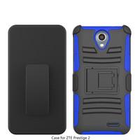 ZTE ZFive 2 Z836 Z837 Için Zırh Vaka Prelude Artı Tempo X N9137 Klipler Kılıf Sert Plastik Silikon Sağlam Cilt Kapak Kickstand Standı vaka