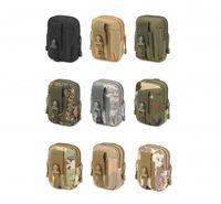 Universal Ao Ar Livre Coldre Tático Militar Molle Hip Belt Cinto Bolsa Carteira Bolsa Bolsa de Telefone Caso com Zíper Iphone 7 6 6 S Plus Samsung