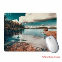 Gaming Mouse Pad Mat Rubber Landscape Printed Anti Slip Comp...