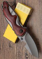 оптовик X70 деревянная ручка многофункциональный карманный складной нож острым лезвием тактические выживания кемпинг ножи открытый инструменты бесплатная доставка