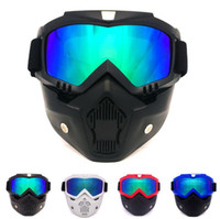 Outdoor Anti-inquinamento Ciclismo Maschere Mountain Bike MTB Bicicletta Occhiali 100% UV Protect Bike Full Face Mask Anti-fog Snowboard Occhiali da sci
