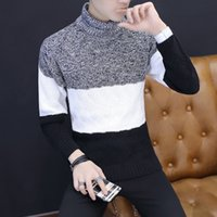 Winter Warm Pullover Sweaters New Fashion Men Striped Casual...