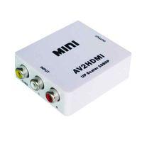 최고급 품질의 RCA AV to HDMI 컨버터 어댑터 Mini Composite CVBS to HDMI AV2HDMI 컨버터 (소매 패키지 1080P)