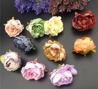 Imitatie bloem hoofden accessoires garland decoratie nep bloem knop bruiloft zijde bloem diy hoofddeksels doek materiaal L594