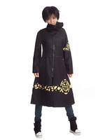أنيمي قطعة واحدة تأثيري الطرف الأغر القانون عباءة زي أسود معطف طويل