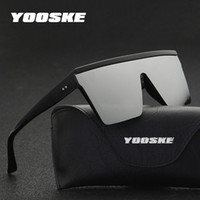 YOOSKE Oversized Sunglasses Men Vintage Brand Driving Sun Gl...