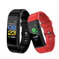 معرف 115 زائد سوار الذكية للشاشة اللياقة البدنية المقتفي عداد الخطى ووتش عداد القلب معدل ضغط الدم مراقب الذكية معصمه