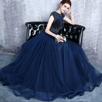 2018 New designer plus size Navy blue Mother Dresses lace up...