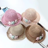 Hot Sell Baby girl Straw Sun Hats Cartoon Rabbit Fruit star ...