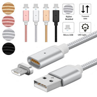1M Nylon Magnetic Cable 2. 4A Micro USB Charging Data Cable M...