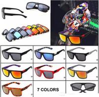 패션 폭스 디자이너 선글라스 야외 MotoGP 사이클링 안경 야외 스포츠 일요일 안경 스퀘어 모양 사이클링 스타일 남자 고글 선글라스