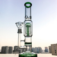 12 Inch Straight Tube Bong 8- Arms Tree Perc Dab Rigs Honeyco...