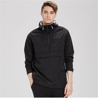 Pullover Mit Kapuze Jacken Männer Dünne Beiläufige Schwarze Wasserdichte Winddichte Jacken Mäntel Männlichen Sportswear casaco masculino