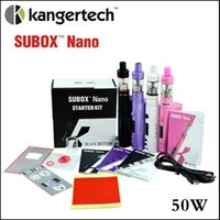 Top qualité Subox Nano kit de démarrage clone Kangertech SUBOX Nano kit complet 18.5mm subtank nano réservoir VW 5W-50W batterie vs sous-mini