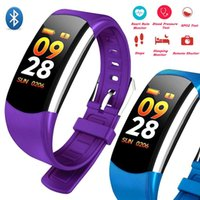 Smart Fitness Tracker Band Heart Rate Blood Pressure Bluetoo...