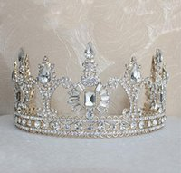 Bling Beaded Crystals Wedding Crowns 2018 Bridal Diamond Jewelry Strass Headband Hair Crown Accessories Tiara oro del partito