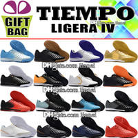 High Quality Mens 2018 Leather Football Boots Low Tiempo Lig...