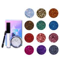 zouyesan Trasporto libero 2019 12 colori di trucco diamante lucido Glitter Eyeshadows Stage Party trucco diamante multicolore paillettes