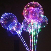 100pcs LED Balloon Luminous Transparent Colored Flashing Lig...