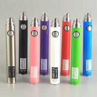 UGO V II Vape bateria 510 Pré-aquecimento Baterias 650mAh 900mAh com Cabos Micro USB de carga para cigarros E cartucho atomizadores vaporizador Pen