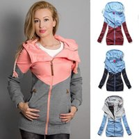 Women Sweatshirt Outerwear Spring Autumn Splicing Tops Pregn...