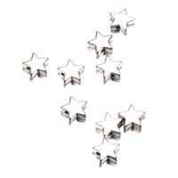 100pcs / lot 10 * 10mm Couleur Argent Plaqué Petite Étoile Charmes Haute Qualité Pentagram Pendentif Étoile pour Diy Bijoux Accessoires