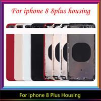 Per iPhone 8G 8 8 Inoltre Torna abitazioni medio Frame della copertura di batteria Assemblea completa dell'alloggiamento del telaio per l'iphone 8 più Housing, il trasporto libero