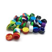 Vente en gros 30 couleurs 3mL 5mL 7mL Non-adhésif Silicone Jar Récipients de cire Dab Pour Wax Silicone Bocaux Concentrate Case 6 en 1 Pass FDA LFGB Test