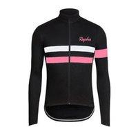 Hombre Rapha Pro Team Ciclismo Manga larga Jersey MTB Tops de bicicletas al aire libre Sportswear transpirable Quick Seco Road Bicicleta Camisa Ropa de carreras Y21041626