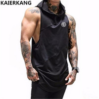 2018 Fitness Men Hoodies  Clothing Men Hoody Casual Sweatshirt Muscle Men's Slim Fit sleeveless Hoodies Sweatshirts M-2XL