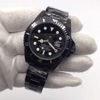Hot sale Frete grátis Mens Watch Full Black Homens Relógios Homens Relógio de Pulso de Aço Inoxidável Mecânico Automático 116610