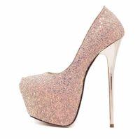 Moda paillettes donne scarpe da sera 2019 donne designer sexy tacchi piattaforma donna scarpe da sposa strass tacco a spillo nero pompe scarpe