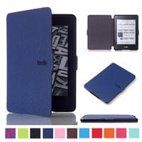 """Estuche de cuero delgado y elegante para Amazon Kindle Paperwhite 1 2 3 6 """"Auto Sleep / Wake Funda para tableta para Paperwhite 2 Paperwhite 3"""