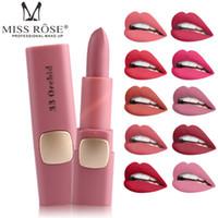 2018 femmes de la mode marque MISS ROSE rouge à lèvres mat maquillage couleur rouge à lèvres Moist