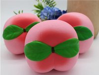 Cute Kawaii Soft Simulation Squishy Slow Rising Fruit Peach ...