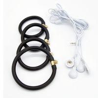 Доктор Мона Лиза - мужской электрический импульсный шок силиконовые кольца мужской E-Stim терапия задержка ремень петух кольцо бондаж SM секс игрушки