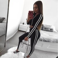 Womens Sports Suits Fashion Stripes Hoodies Pullovers Short ...