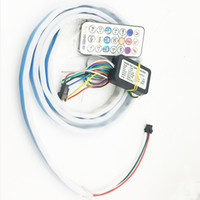 Wireless Remote RGB Changing LED Strip Rear Trunk Light 120c...