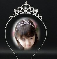 Kids Tiara Wedding Party Silvery Crown Tiaras Accessories Gi...