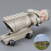 Trijicon ACOG Tan Farbe Tactical Art 4x32 Gewehr-Bereich Red Dot Red Optical Fiber 20mm RAIL